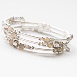 Stella & Dot silver Isabelle wrap bracelet